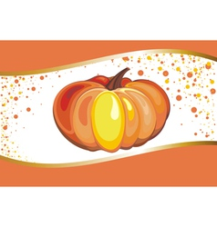 Background with Pumpkin vector image
