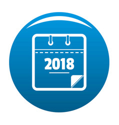 calendar new year icon blue vector image