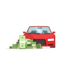 Car money concept of expenses auto savings vector