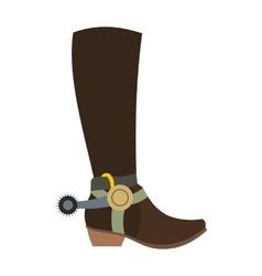 Cowboy boot icon vector