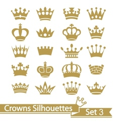 Crown collection - silhouette vector image