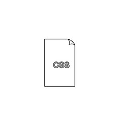 Css format document icon filled flat sign solid vector