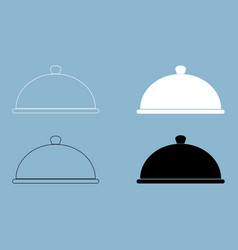 dish the black and white color icon vector image vector image