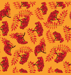 Fall seamless pattern autumn leaves background vector
