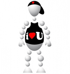 fashionable t-shirt and cap vector image vector image