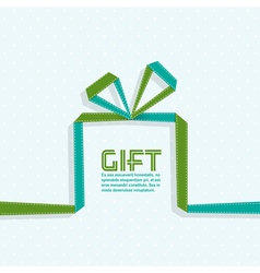Gift in the style of origami ribbon vector