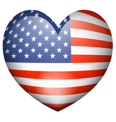 Icon design for flag of america in heart shape vector