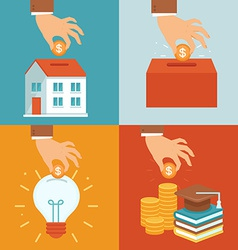 investment concepts in flat style vector image