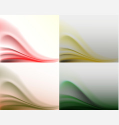 Light subtle wavy backgroundset vector
