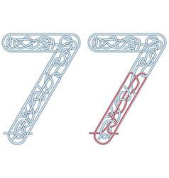 Maze seven vector