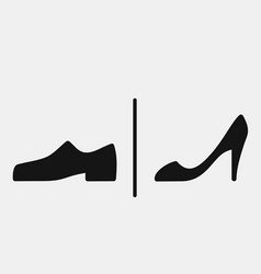 Men and women shoes icons vector