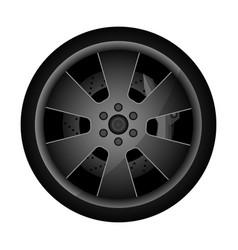 metal auto rim icon vector image vector image