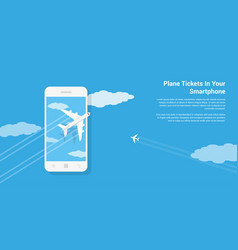 mobile tickets service vector image vector image