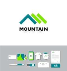 Mountain outdoor logo vector
