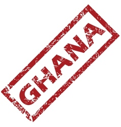 New ghana rubber stamp vector