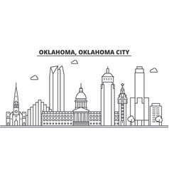 oklahoma oklahoma city architecture line skyline vector image vector image