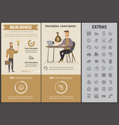 online business infographic template and elements vector image vector image