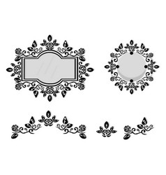 Ornamented mirror or photo frame vector