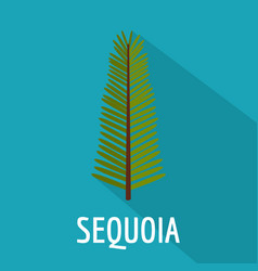 Sequoia leaf icon flat style vector