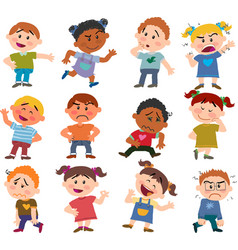 set of cartoon characters to boys and girls vector image vector image