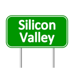 Silicon valley green road sign vector