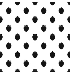 Strawberries pattern simple style vector image vector image