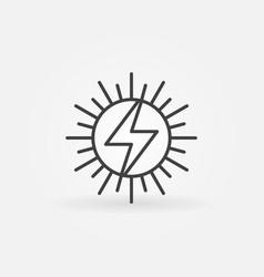 sun concept icon vector image vector image