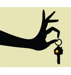 take the keys for home vector image vector image