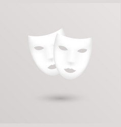 Theater icon masks vector image
