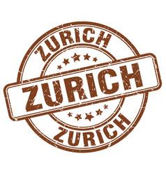 Zurich stamp vector