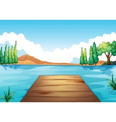water and bench vector image