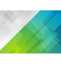 Abstract blue green geometric background vector image