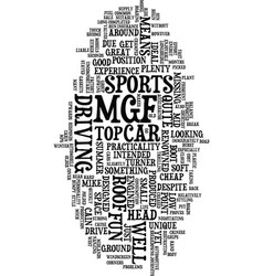 Mgf is a fun sports car text background word vector
