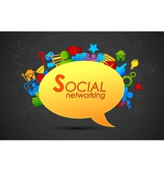 Social networking chat bubble vector