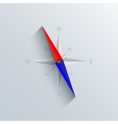 Modern compass background vector
