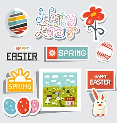 Easter isolated symbols - objects set vector