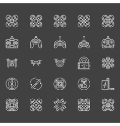 Drone logo set vector