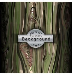 Camouflage military pattern with wood background vector