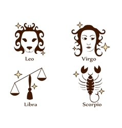 Zodiac tattoo stencil vector