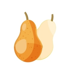 Ripe pear icon cartoon style vector