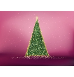 Abstract green christmas tree on red eps 10 vector