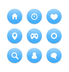 basic web icons settings login home address vector image