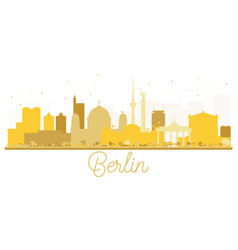 berlin germany city skyline golden silhouette vector image vector image