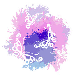 Butterflies silhouettes isolated on white vector