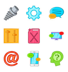 car care icons set cartoon style vector image