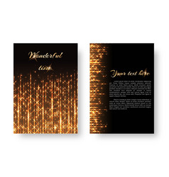 cover with bright lights vector image vector image