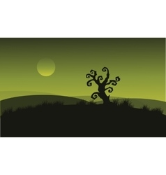 Dry tree at halloween backgrounds vector