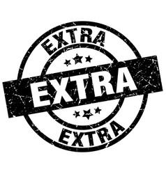 Extra round grunge black stamp vector