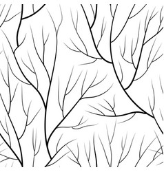Floral seamless pattern branch without leaves vector