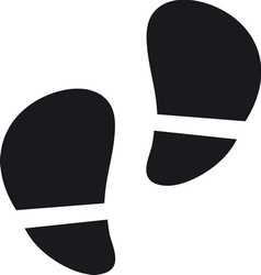 Footsteps resize vector